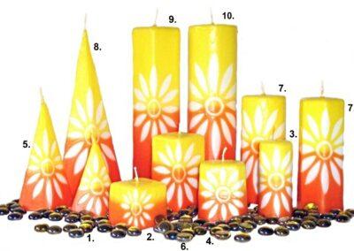 Ručně vyřezávané svíčky